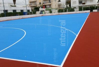 Акриловая спортивная площадка