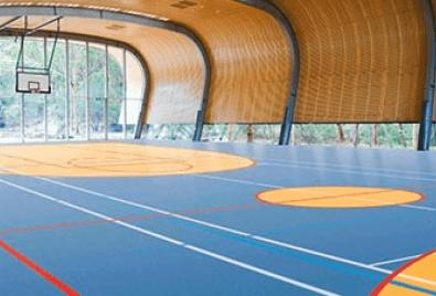 Напольное покрытие для крытых баскетбольных площадок