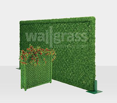 Зеленая панель из искусственной травы